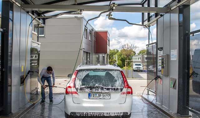 استفاده از بوم سقفی برای کارواش مدرن